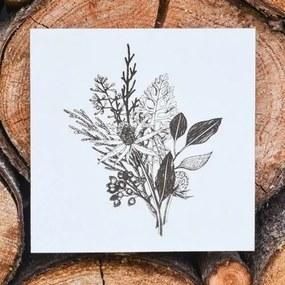 Moderný drevený obraz - poľné kvety
