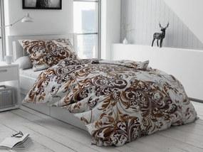 Bavlnené obliečky Čestmír hnedý Rozmer obliečok: 70 x 90 cm, 140 x 220 cm