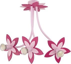 Detské svietidlo Nowodvorski FLOWERS PINK, h=50 cm 6894