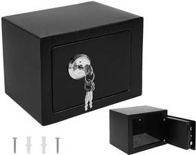 ISO Trezor s mechanickým zámkom 230x170x170mm, čierna, 8800