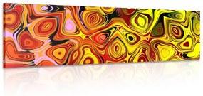 Obraz kreatívne umenie v odieňoch červenej a žltej