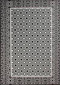 Kusový koberec Karo čiernobiely, Velikosti 160x220cm