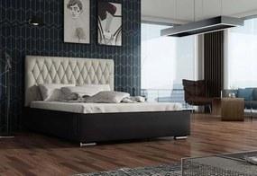 Expedo Čalouněná postel REBECA + rošt + matrace, Siena06 s knoflíkem/Dolaro08, 180x200