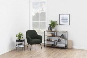 Dizajnový odkladací stolík Adolphus, dymová