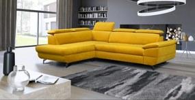 Rozkladacia rohová sedacia súprava Leffe medium, žltá Roh: Orientace rohu Levý roh