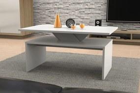 Mazzoni SISI biely, moderný, stôl, konferenčný stolík