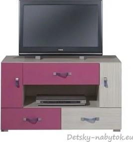 Televízny stolík Adelle IX - ružový