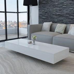 vidaXL Konferenčný stolík, lesklý, biely