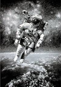 Kusový koberec PP Kozmonaut sivý, Velikosti 160x225cm