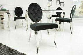 Luxusné kreslo Modern Barock, čierna