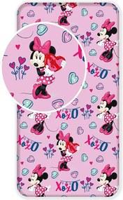 Plachta Minnie pink 90x200 cm 100% bavlna Jerry Fabrics
