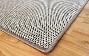 Vopi koberce Metrážový koberec Nature světle béžový - Rozměr na míru s obšitím cm