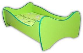 Detská posteľ MIDI 140x70 zelená
