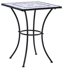 vidaXL Mozaikový bistro stolík, modro biely 60 cm, keramika