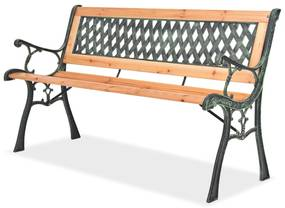 vidaXL Záhradná lavička 122 cm, drevo