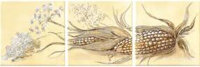 Dekor CLASSIC Corn béžový 15x15 cm set 3 ks
