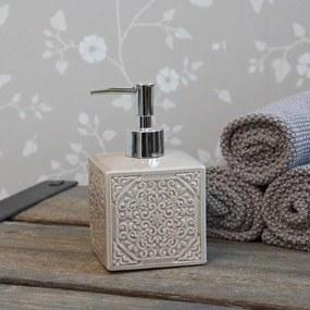 Chic Antique Porcelánový zásobník na mydlo Ornament Latte