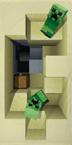 Halantex osuška Minecraft MNC-022T 70x140 cm