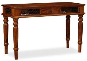 Písací stôl, masívne sheeshamové drevo, 120x50x76 cm