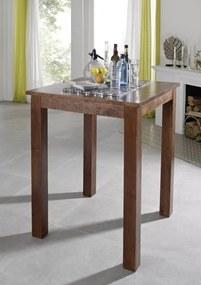 Masiv24 - CAMBRIDGE Koloniálny barový stôl 85x85 masívna akácia