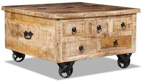 vidaXL Konferenčný stolík zo surového mangového dreva, 70x70x40 cm