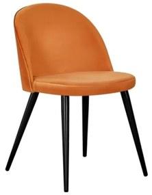 Velvet stolička oranžová