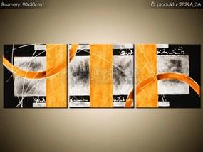 Tlačený obraz Oranžové línie 90x30cm 2529A_3A