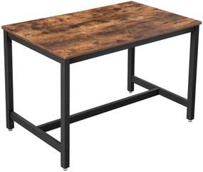 Rongomic Jídelní stůl VASAGLE Diny hnědý