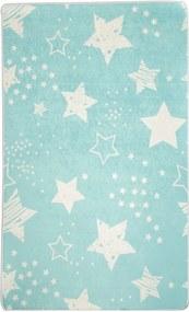 Modrý detský protišmykový koberec Chilam Star, 100 x 160 cm