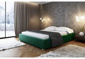 Čalúnená posteľ bez čela Paulo 40x200, zelená