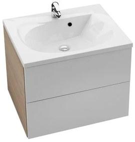 RAVAK SD 600 Rosa II skrinka pod umývadlo 60 x 49 x 47 cm breza / biela X000000925