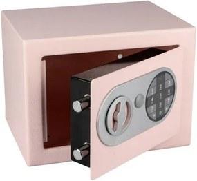 Nábytkový trezor s elektronickým zámkom, ružový