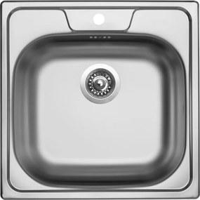 Sinks nerezový drez CLASSIC 480 V matný