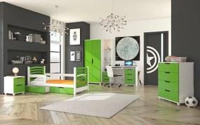 Zelený detský nábytok do izby Doune