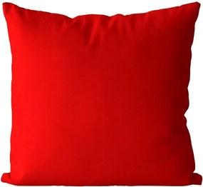 Vankúš Červený (Veľkosť: 55 x 55 cm)