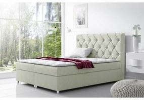 Čalúnená posteľ s úložným priestorom Viviensmotanová 120 + topper zdarma