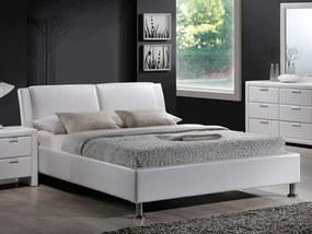 Expedo Čalúnená posteľ TOMI, 160x200, biela/chróm