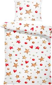 Obliečky Vianočné hvezdy (Rozmer: 1x150/200 + 1x60/50)