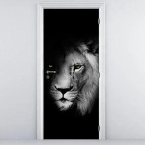 Fototapeta na dvere - lev (95x205cm)