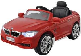 Červené autíčko BMW na batériu s diaľkovým ovládačom
