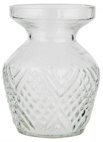 IB LAURSEN Sklenená váza Pattern Clear Wide