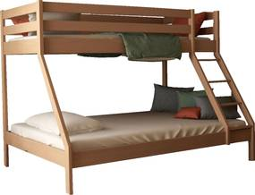 MF Poschodová posteľ s rozšíreným spodným lôžkom Mikael natura 140x200 Variant úložný box: Bez úložného boxu