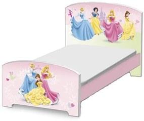 Delta Detská drevená posteľ Princezné