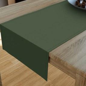 Goldea dekoračný behúň na stôl loneta - uni tmavo zelený 20x160 cm