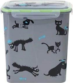 Úložný box na zvieracie krmivo Cane, sivá