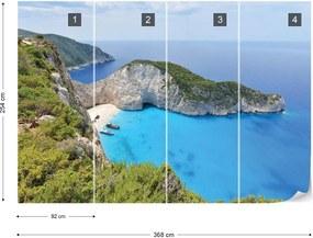 Fototapeta GLIX - Greece Island Beach + lepidlo ZADARMO Papírová tapeta  - 368x254 cm