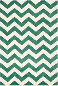Vlnený koberec Safavieh Crosby, 121x182 cm, zelený