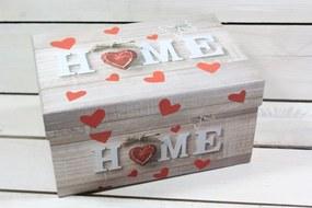 """Darčeková krabica """"HOME"""" 22x15 cm v: 11,5 cm"""