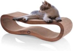 Škrabadlo pro kočky 84 x 24 x 23 cm | hnědé