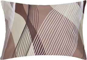 XPOSE ® Povlak na polštář AGNES - hnědá 70x90 cm